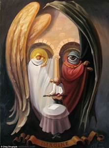 oleg shuplyak illusion painting beatles john lennon 6