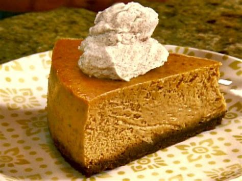 pumkin cheese gina s pumpkin cheesecake recipe the neelys food network
