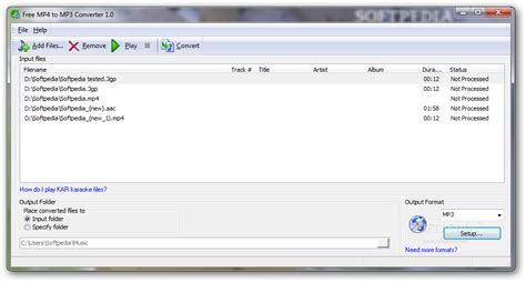 Need an online conversion tool? Download Free MP4 to MP3 converter 1.0 Build 64