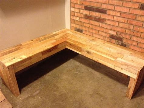 corner bench   pallets completed projects