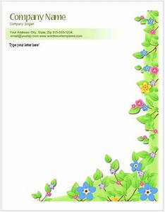 Office Com Templates Word Floral Letterhead Templates For Ms Word Word Excel