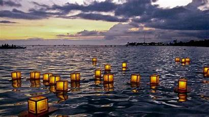 Lanterns Floating Desktop Tangled Wallpapers Festival Thailand