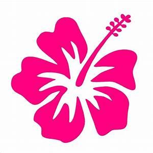 Hibiscus Vinyl Decal Hawaiian Aloha Flower Car Window