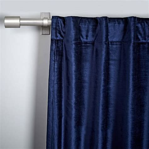 cotton luster velvet curtain nightshade west elm