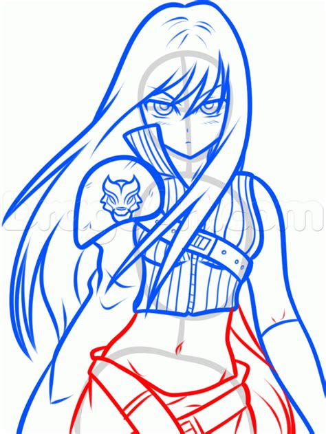draw anime cloud strife step  step anime people