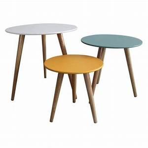 Set 3 Tables Gigognes Stockholm Table Basse Scandinave
