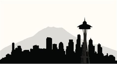 seattle skyline silhouette  birthday