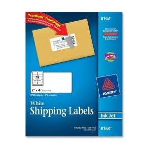 Amazoncom avery dennison 8163 250 labels 08163 2x4 for 2x4 shipping labels