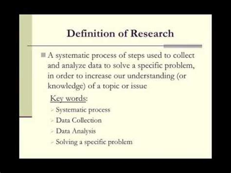 educational research  overview youtube
