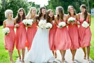 coral colored bridesmaid dresses coral wedding ideas coral mint and coral navy venue safari