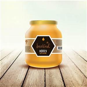 Honey bee label designs for Honey bee label design