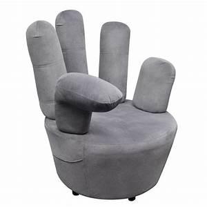 Fauteuil En Forme De Main : la boutique en ligne fauteuil en velours gris en forme de main ~ Teatrodelosmanantiales.com Idées de Décoration
