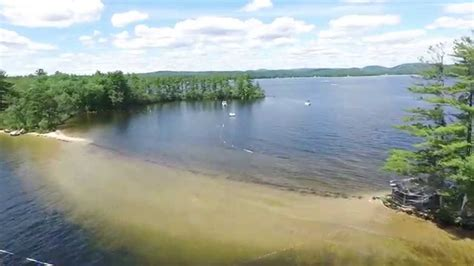 drone dji phantom  flying long lake  maine youtube