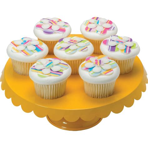 shopkins flower stand decopac photocake layered flower cupcakes