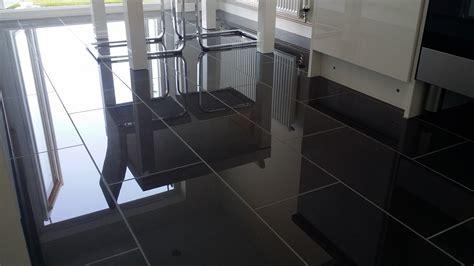 polished black porcelain floor tiles 2 polished porcelain floors and a black metro splashback tilersforums co uk professional