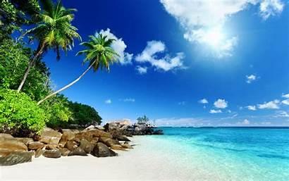 Tropical Island Nature Desktop Backgrounds Wallpapers Clouds