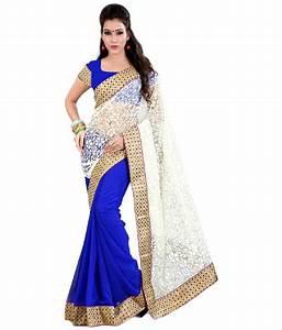 66% OFF on SareeShop Designer SareeS Blue Chiffon Saree on