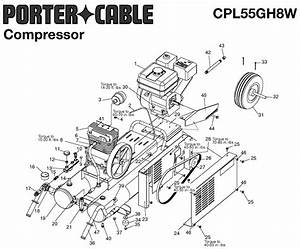 Porter Cable Cpl55gh8w Type-0 Parts