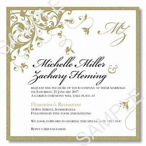 budget wedding invitations template wedding flourish gold With wedding invitation wording samples pdf