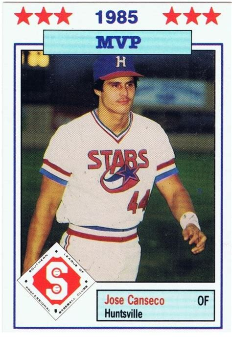 José carlos altuve (spanish pronunciation: Canseco, Jose 1986 Southern League All Star Rookie   RK Sports Promotions