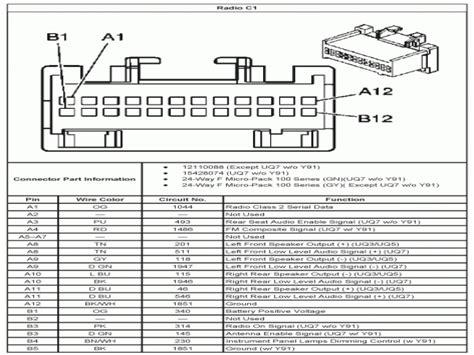 Silverado Stereo Wiring Diagram by 04 Chevy Silverado Radio Wiring Diagram Wiring Forums