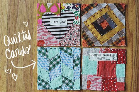 quilted mothers day greeting cards  beautiful mess