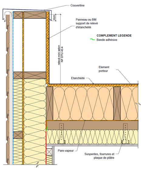 toitures terrasses en bois isol 233 es int 233 gralement sous l