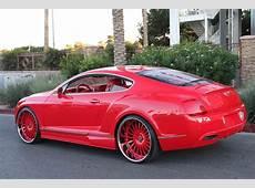 Red Wide Body Bentley on Forgiato Wheels Big Rims