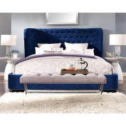 finley blue velvet bed luxurious velvet furniture furniture king headboard and