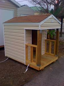 dog house w porch suncrestshed With dog house with deck