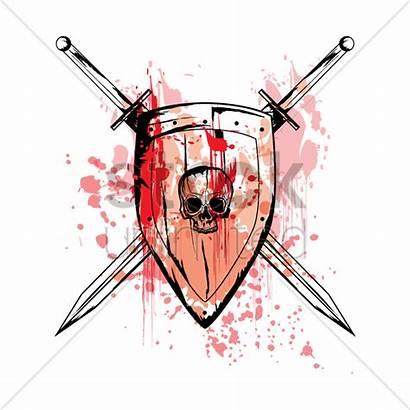Shield Swords Cross Vector Illustration Stockunlimited Vectors