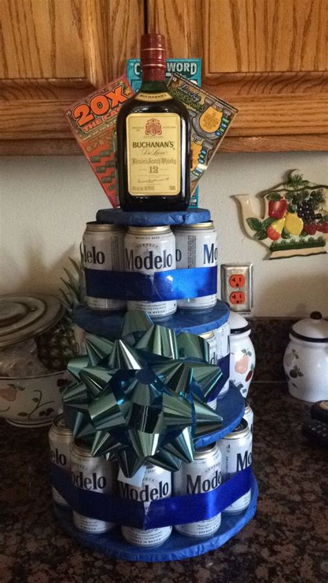 diy beer cake tower diy pinterest crafts pizza