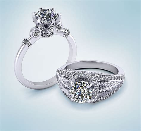 unique engagement rings jewelry designs