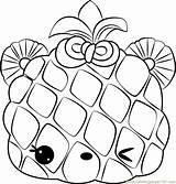 Coloring Apple Piney Num Noms Pages Coloringpages101 sketch template
