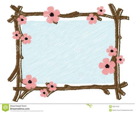 cadre de ressort avec les branches d arbre de floraison image libre de droits image 30314416