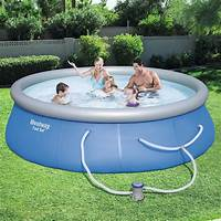 picture of a pool Bestway 13 ft. Round 33 in. Deep Fast Set Swimming Pool ...