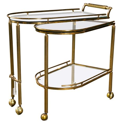 Rolling Bars For Home by Mid Century American Brass Rolling Bar Cart C 1950 At