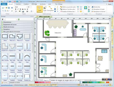 plan des bureaux logiciel d 39 aménagement de bureau aménager votre bureau