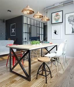 amnagement cuisine ouverte sur salle manger amnagement With idee deco cuisine avec grande table salle a manger design