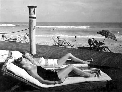 florida memory young women sunbathing miami beach florida