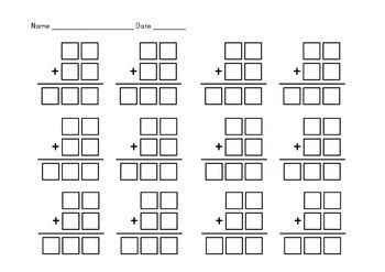 addition currency subtraction boxes  digit  digit