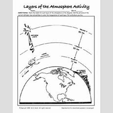 Layers Of The Atmosphere Activity 7th  9th Grade Worksheet  Lesson Planet