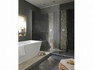 Salle De Bain Italienne Leroy Merlin : une salle de bains chic et contemporaine dans 10m leroy ~ Melissatoandfro.com Idées de Décoration