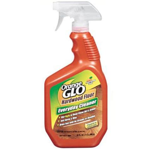 hardwood floor cleaner orange glo 32 oz orange hardwood floor cleaner 111502a01 the home depot