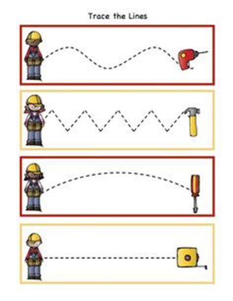tracing images pre writing preschool worksheets