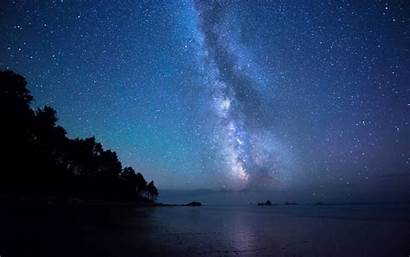 Sky Night Stars Wallpapers Sea Fantasy