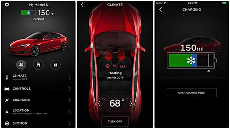 Tesla Car Apps by Tesla Mobile App Now Allows You To Heat Your Seats Remotely