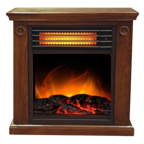 fireplace heater home depot sunheat 19 in 1500 watt compact infrared fireplace