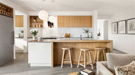 Timber Cupboards by Indiana Kitchen Modern White And Timber Kitchen With