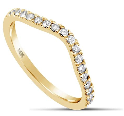 wedding ring band 0 39 carat curved 14k yellow gold classic traditional ebay